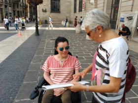 With Emma in the Gothic quarter
